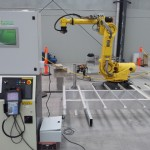 Cement processing robot