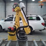 Robot buffing cell