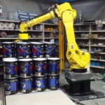 Robot palletising cell
